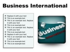 Business International Global PowerPoint Presentation Slides S