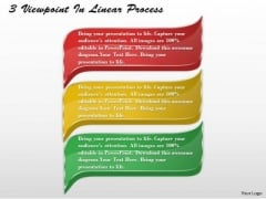 Business Level Strategy 3 Viewpoints Linear Process Simple Strategic Plan Template Ppt Slide