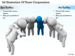 Business Level Strategy 3d Illustration Of Team Cooperation Concepts