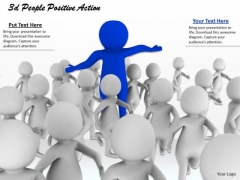 Business Level Strategy 3d People Positive Action Basic Concepts
