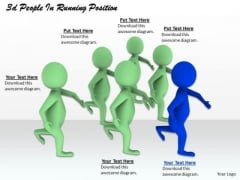 Business Level Strategy 3d People Running Position Basic Concepts