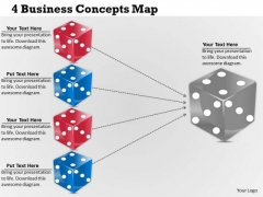 Business Level Strategy 4 Concepts Map Simple Strategic Plan Template Ppt Slide