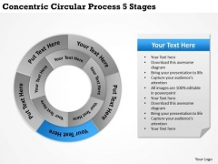 Business Level Strategy Concentric Circular Process 5 Stages Consulting