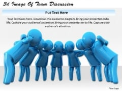 Business Level Strategy Definition 3d Image Of Team Discussion Character