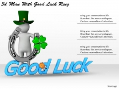 Business Level Strategy Definition 3d Man With Good Luck Ring Characters