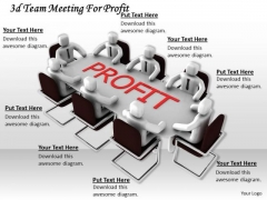 Business Level Strategy Definition 3d Team Meeting For Profit Concept Statement
