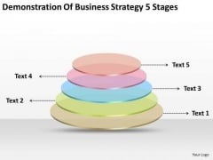 Business Level Strategy Definition 5 Stages Plan Preparation PowerPoint Templates