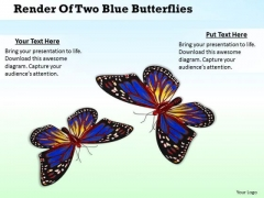 Business Level Strategy Definition Render Of Two Blue Butterflies Images