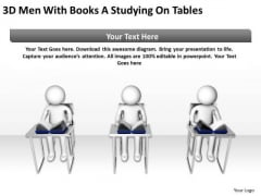 Business Life Cycle Diagram 3d Men With Books Studying On Tables PowerPoint Templates