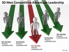 Business Logic Diagram Advantage Leadership PowerPoint Templates Backgrounds For Slides