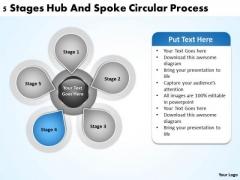 Business Logic Diagram Spoke Circualr Process Ppt PowerPoint Templates Backgrounds For Slides