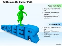 Business Management Strategy 3d Human On Career Path Characters