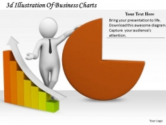 Business Management Strategy 3d Illustration Of Charts Characters