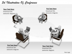 Business Management Strategy 3d Illustration Of Conference Basic Concepts