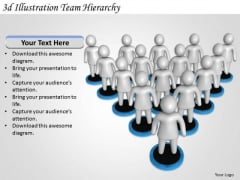 Business Management Strategy 3d Illustration Team Hierarchy Concepts