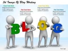 Business Management Strategy 3d Image Of Blog Writing Concepts