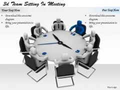 Business Management Strategy 3d Team Sitting Meeting Adaptable Concepts