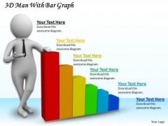 Business Management Strategy 3d With Bar Graph Adaptable Concepts
