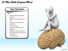 Business Management Strategy 3d With Confused Mind Adaptable Concepts