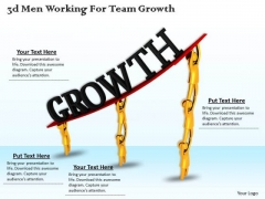 Business Management Strategy 3d Working For Team Growth Character