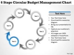 Business Management Strategy 6 Stage Circular Budget Chart Level