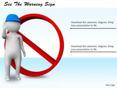 Business Management Strategy See The Warning Sign 3d Character Modeling