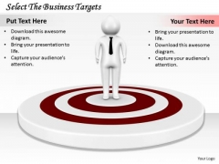 Business Management Strategy Select The Targets 3d Character Modeling