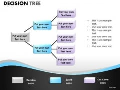 Business Marketing Decision Tree PowerPoint Slides And Editable Ppt Templates