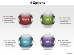 Business Marketing PowerPoint Templates Business Choose From 4 Options Ppt Slides