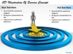 Business Marketing Strategy 3d Illustration Of Success Concept Character