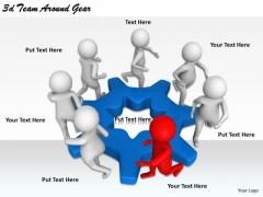 Business Marketing Strategy 3d Team Around Gear Concept Statement