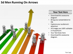 Business Men 3d Running On Arrows PowerPoint Templates Ppt Backgrounds For Slides