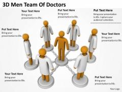 Business Men 3d Team Of Doctors PowerPoint Templates
