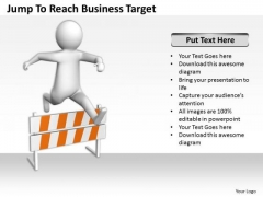 Business Men Reach PowerPoint Theme Target Templates Ppt Backgrounds For Slides