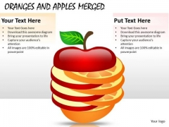 Business Merger Oranges And Apples PowerPoint Slides And Ppt Templates
