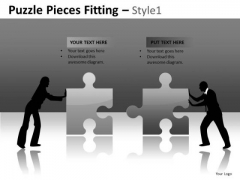 Business Merger Puzzle PowerPoint Slides And Editable Ppt Templates