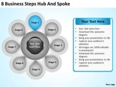 Business Model Diagram Examples PowerPoint Templates Steps Hub And Spoke