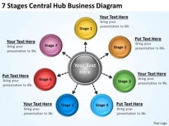 Business Model Diagrams Hub PowerPoint Templates Free Download Slides