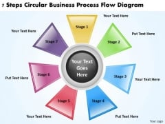 Business Model Diagrams PowerPoint Templates Free Download Process Flow Slides