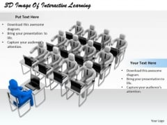Business Model Strategy 3d Image Of Interactive Learning Character