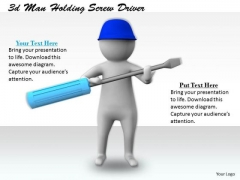 Business Model Strategy 3d Man Holding Screw Driver Adaptable Concepts