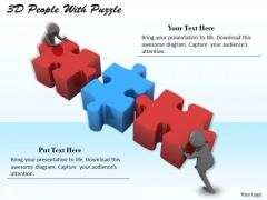 Business Model Strategy 3d People With Puzzle Adaptable Concepts