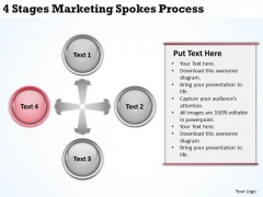 Business Network Diagram Examples 4 Stages Marketing Spokes Process Ppt PowerPoint Templates