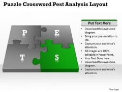Business Network Diagram Puzzle Crossword Pest Analysis Layout Ppt PowerPoint Slides