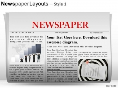 Business Newspaper Layouts 1 PowerPoint Slides And Ppt Diagram Templates