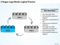 Business Organizational Chart Stages Lego Blocks Logical Process Ppt PowerPoint Templates