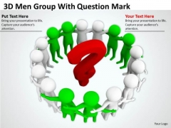 Business People 3d Man Group With Question Mark PowerPoint Templates