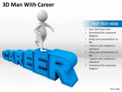 Business People 3d Man With Career PowerPoint Slides