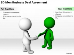 Business People 3d Men Deal Agreement PowerPoint Templates Ppt Backgrounds For Slides