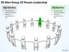 Business People 3d Men Group Of Person Leadership PowerPoint Slides